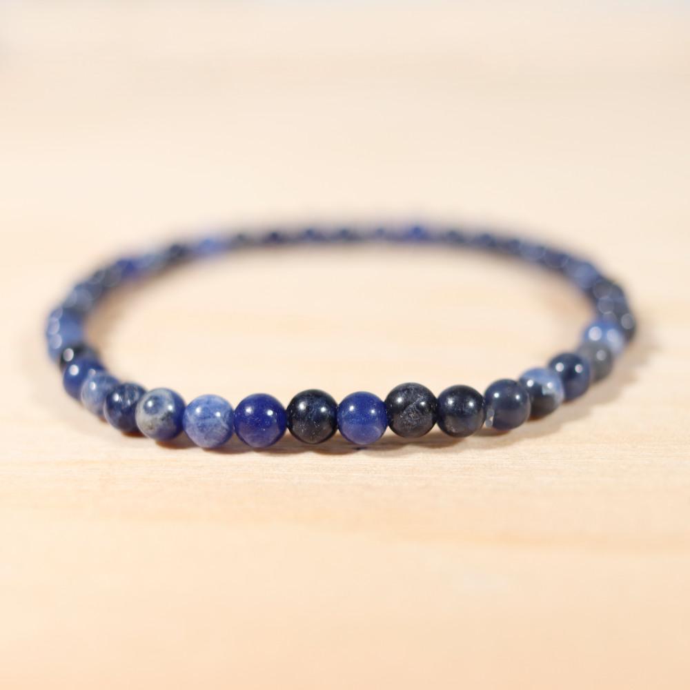 Bracelet en sodalite, 4 mm