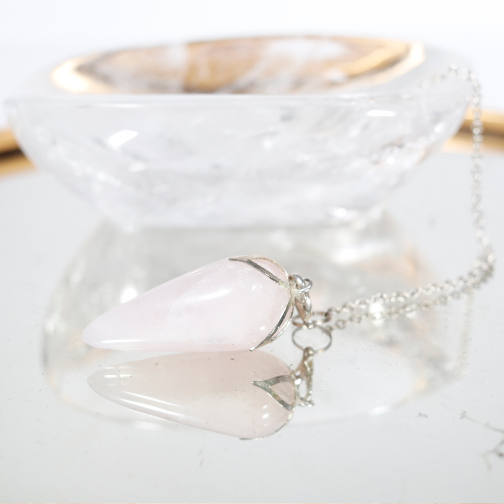 Pendule quartz rose lotus