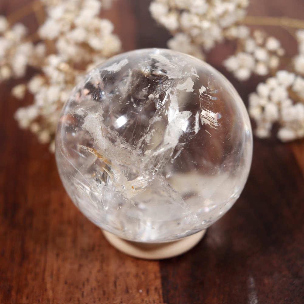 Sphère en cristal de roche, modèle 1