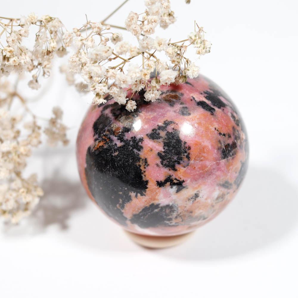 Sélection de sphère en rhodonite