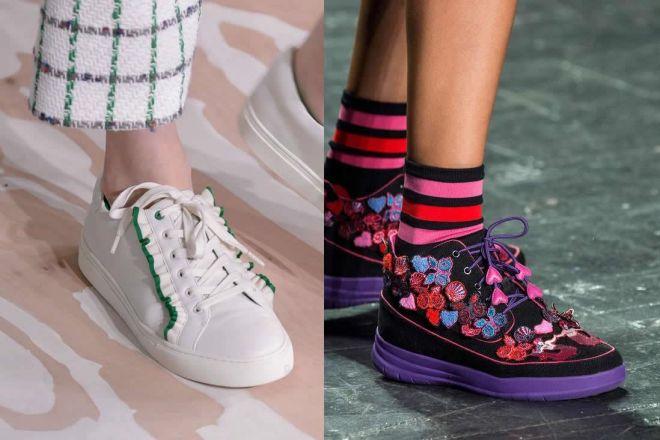 Risultati immagini per La nuova tendenza per lesneakersPrimavera estate 2017
