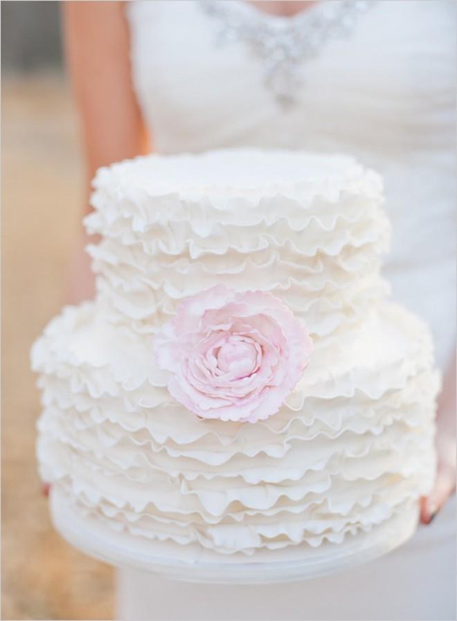 Foto Torte nuziali forma Ruffle cake