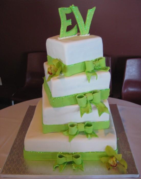 Foto Torte nuziali colore Verde