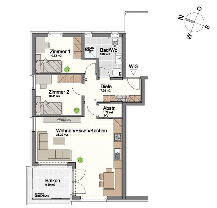 3ZimmerWohnung in Rankweil Hadeldorfstrasse 15  Amann Immobilien GmbH