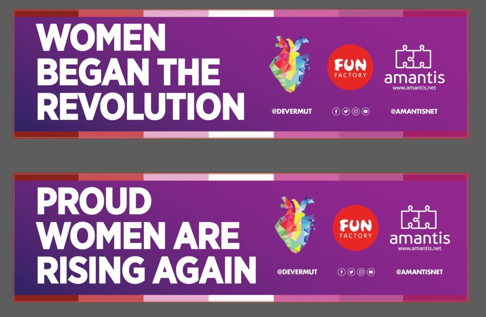 Slogan carroza PRIDE 2019 DeVermut amantis Fun Factory