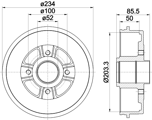 Tambour de frein RENAULT LAGUNA 2.2 83CV [1993-2001