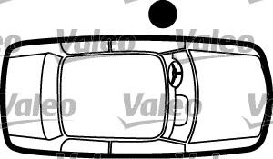 Poignée de porte gauche (Côté conducteur) VALEO 256890