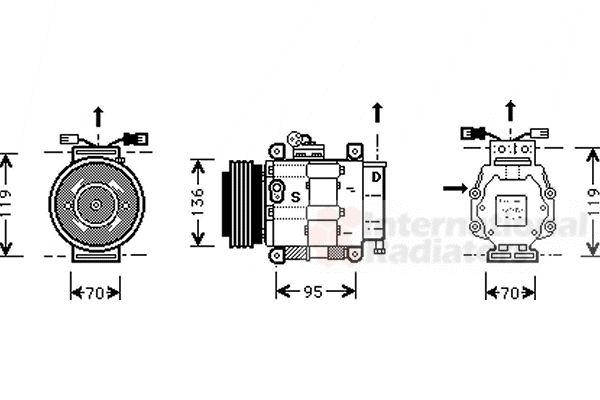 Compresseur, climatisation FIAT BRAVA 1.4 75CV [1995-2001