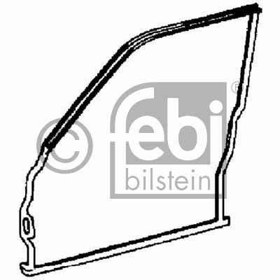 Joint d'étanchéité de porte avant à gauche (Coté