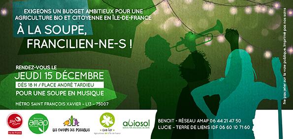 Restons mobilisés pour l'agriculture bio, paysanne et citoyenne en Île de France!