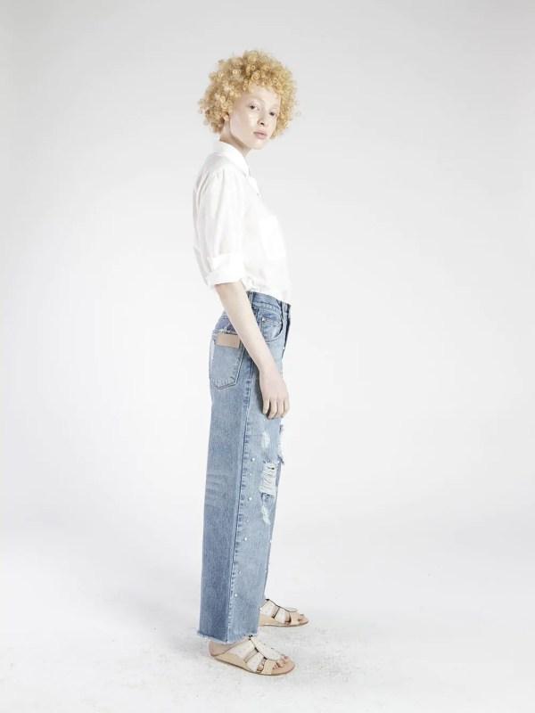 calça pantalona pérolas