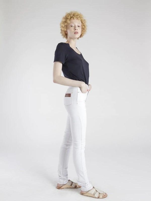 cintura alta branca