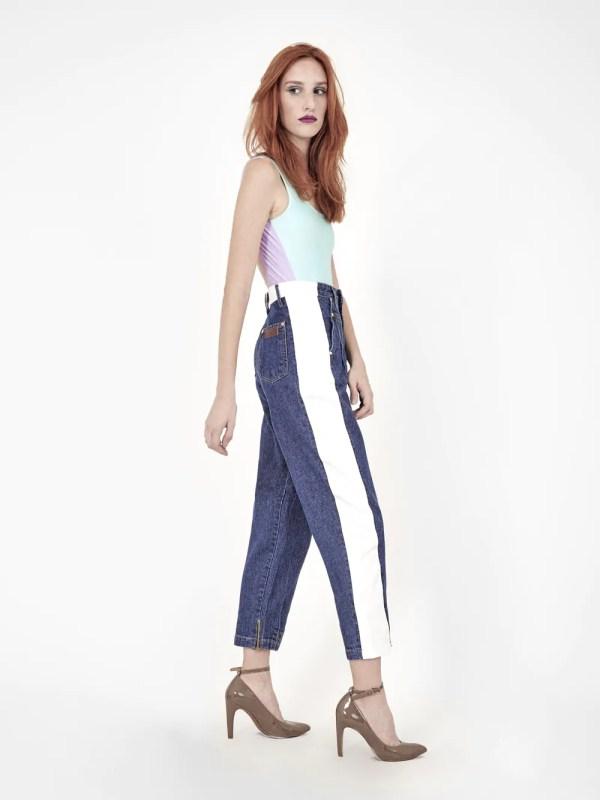 jeans clochard bicolor
