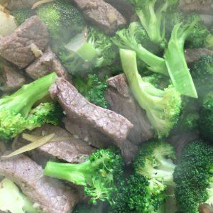 Boeuf brocoli gingembre