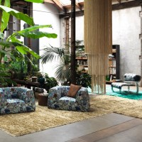 Tropical Interior Style with Palms & Pineapples