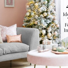 Decorate Small Living Room For Christmas Country Images Decorating 49 Ideas Your Festive Interior