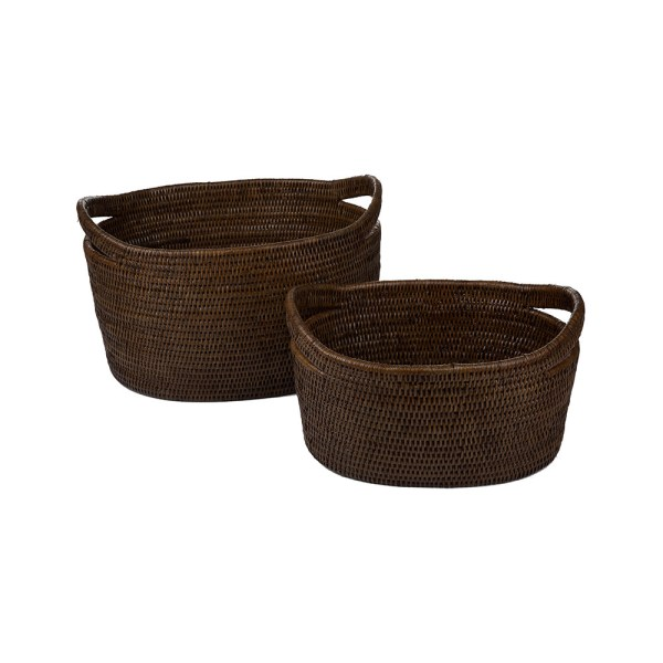 Buy Baolgi Vienna Baskets - Set of 2 - Teak | Amara
