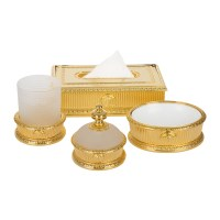 Buy Versace I Classici Beaker Holder - Gold | Amara