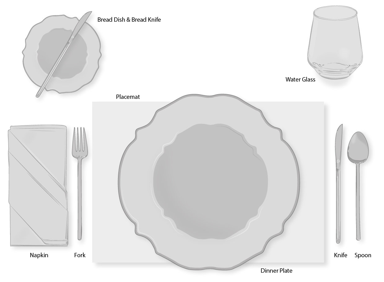 hight resolution of everyday dinner table setting