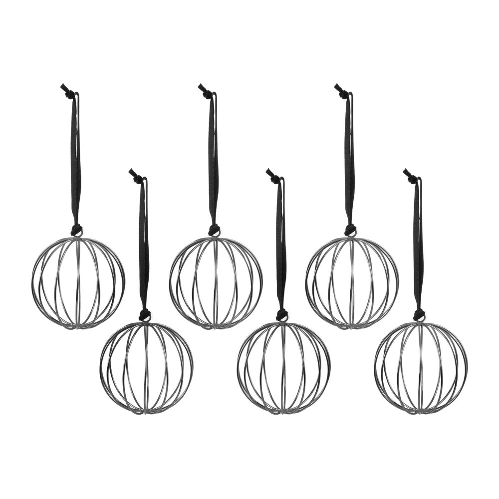 Buy A by Amara Set of 6 Round Wire Tree Decorations