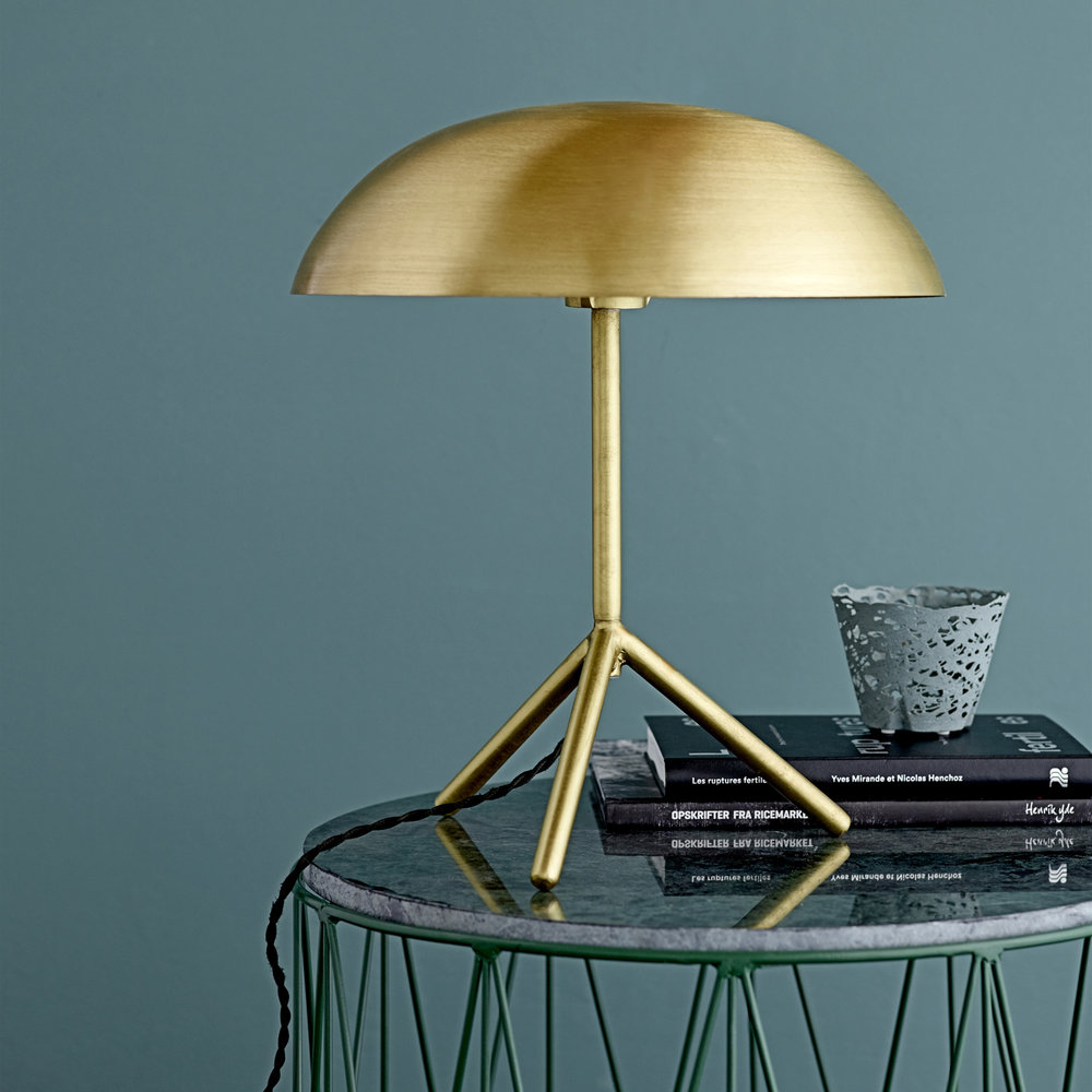 hight resolution of bloomingville tripod table lamp brushed gold