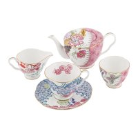Buy Wedgwood Butterfly Bloom Teacup and Saucer Blue and ...