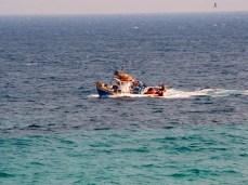 Fishing boat view from Amarandos balcony