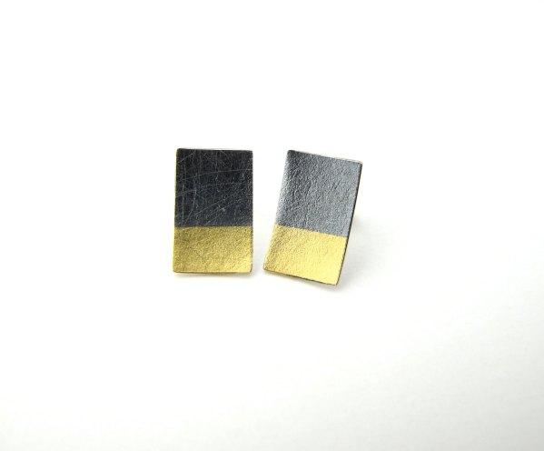 Pendientes rectangulares Kumboo. Hiroko Miyamoto.