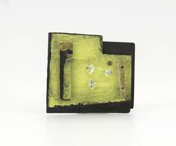 Judy Mccaig. joyeria de arte. Joyería contemporánea. cuadro pictórico