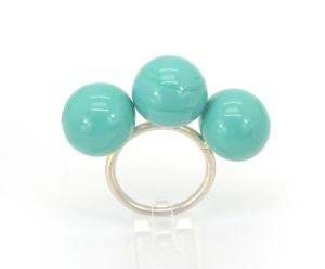 Anillos de Cristal. Glass Blue. cristal _ Berry. Joyería Barcelona. Joyas de diseño. joyería contemporánea.