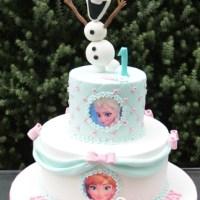 Two Tier Frozen Cake Olaf - Amarantos Designer Cakes Melbourne