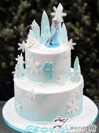 Two tier Frozen Cake – AC323 – Amarantos Celebration Cakes Melbourne