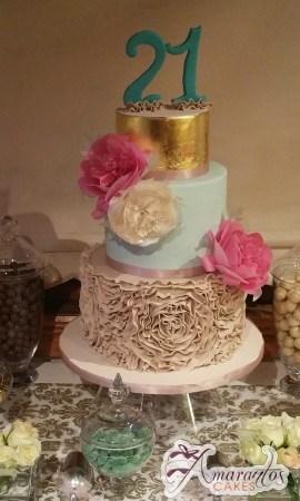 Five Tier 21st Birthday Cake - Celebration Cakes Melbourne - Amarantos