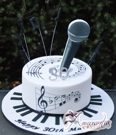 Base Cake Microphone - Amarantos Custom Made Cakes Melbourne