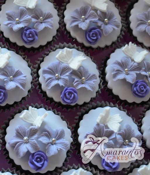 Purple Butterfly Cupcakes - Amarantos Designer Cakes Melbourne