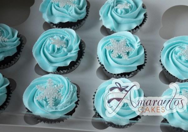 Frozen Cup Cakes One Dozen - CU30 - Amarantos Cup Cakes Melbourne