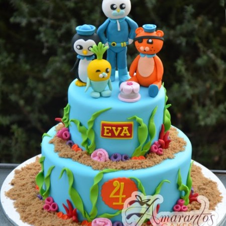 Two tier Octonauts cake - Amarantos Cakes Melbourne