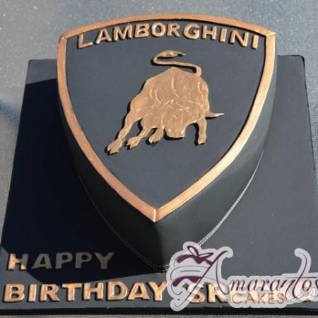 Lamborghini Badge Cake - Amarantos Birthday Cakes Melbourne