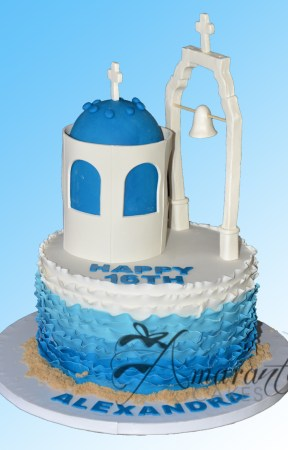 Santorini themed cake - NC621 - Celebration Cakes Melbourne