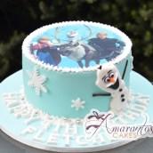 Frozen Elsa Olaf Cake - Amarantos Birthday Cakes Melbourne