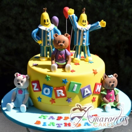 Base with Bananas in Pyjamas - NC651 - Amarantos Celebration Cakes Melbourne