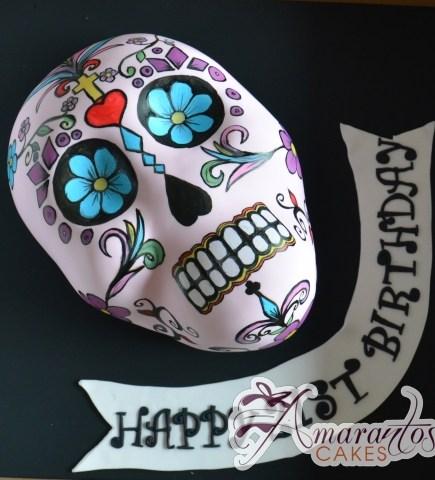 2D Mexican Skull – NC679 – Amarantos Celebration Cakes Melbourne