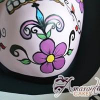 2D Mexican Skull Cake - Amarantos Cakes Melbourne