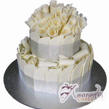 Two tier Cake – WC100 – Amarantos Wedding Cakes Melbourne