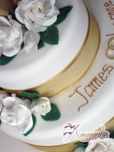Two tier Cake - Amarantos Celebration Designer Cakes Melbourne