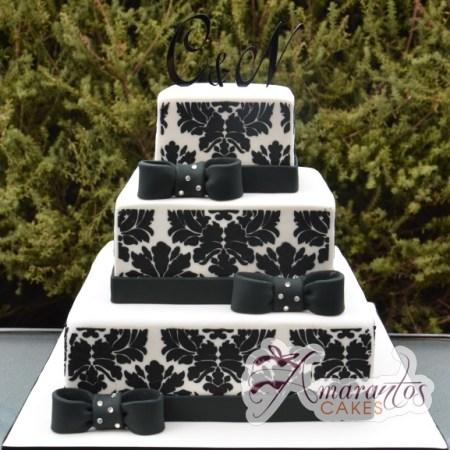 Three tier Damask - Amarantos Designer Cakes Melbourne
