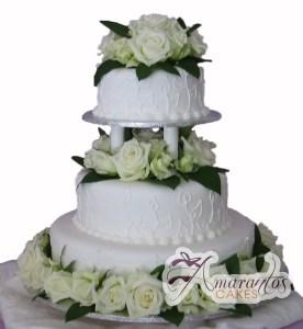Three Tier Cake - WC51 - Amarantos Wedding Cakes Melbourne