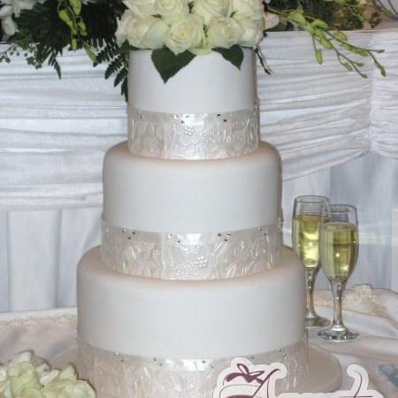 Six Tier Cake - Amarantos Wedding Cakes Melbourne
