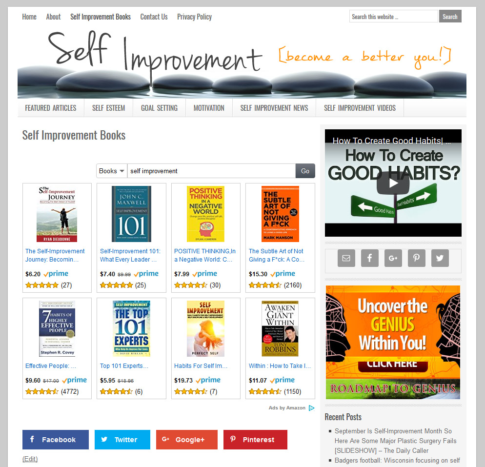 Top Self Improvement Websites