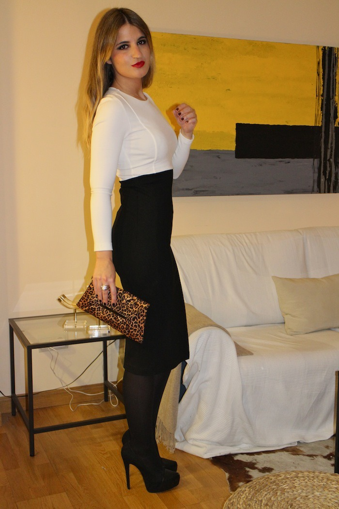 black white dress amaras la moda5